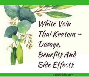 White Vein Thai Kratom – Dosage, Benefits And Side Effects